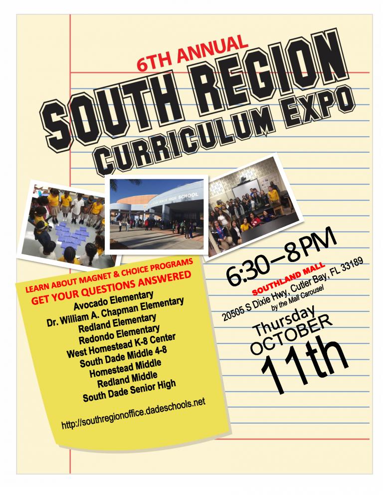 South Region Curriculum Expo